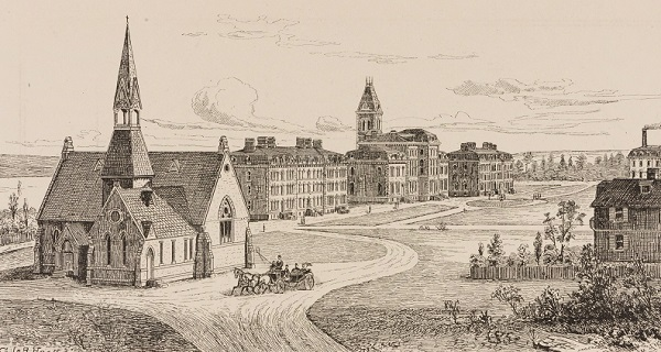 Sketch of Cornell's campus