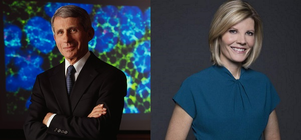 Dr. Anthony Fauci MD '66 and Kate Snow '91