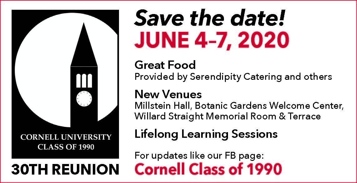 Cornell Spring 2020 Calendar.Cornell University Class Of 1990s 1990